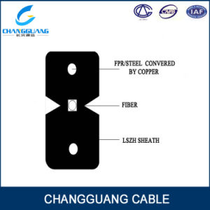 Telecom Level Indoor Bow-Type FTTH Drop 2 Core Fiber Cable pictures & photos