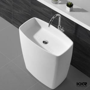 Corian Bathroom Artificial Stone Wash Basin Kkr Pedestal Basin pictures & photos