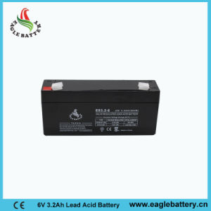 6V 3.2ah Rechargeable Lead Acid Battery for Alarm System