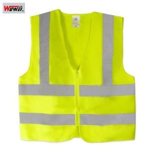 High Visibility Safety Vest with Reflective Strips, Front Zip pictures & photos