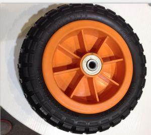 Plastic Rim Flat Free PU Wheel pictures & photos