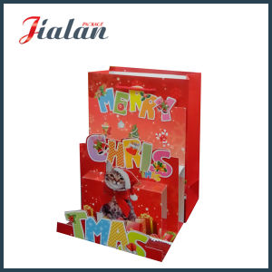 Matte Laminated Ivory Paper 3D Merry Christmas Gift Paper Bag pictures & photos