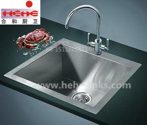 Single Bowl Handmade Wash Sink with Topmount Installation, Handcraft Sink, Kitchen Sink (HMTS2420) pictures & photos
