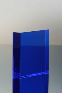 Blue Crystal Square Paperweight (#5137) pictures & photos