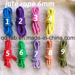Jute Dyed Rope for Artwork Making (JDR-6mm) pictures & photos