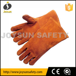 Welding Leather Glove Brown Color (WCBY01)