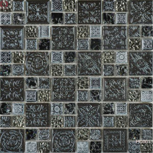 Mix Color Stone Glass Ceramic Mosaic Wall Tile (HC001) pictures & photos
