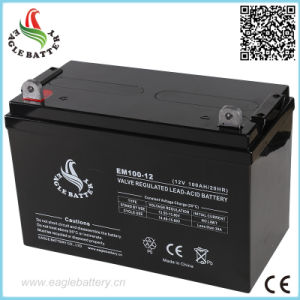 12V 100ah Rechargeable Lead Acid Solar Battery for UPS