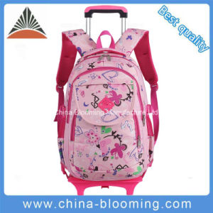 Students Lovely Rolling School Backpack Wheel Book Bag Trolley Bag pictures & photos