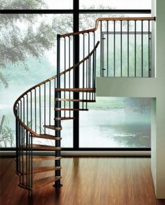 Stainless Steel Stairs Spiral Staircase with Railing and Baluster