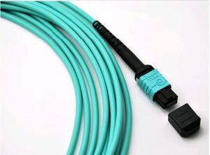 Om3 Multimode MPO Fiber Jumper Cord Aqua Color pictures & photos