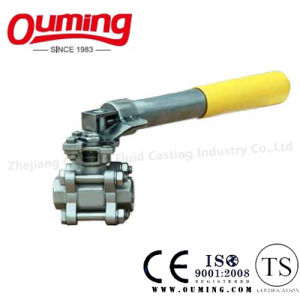 3PC Stainless Steel Threaded Ball Valve with Spring Handle pictures & photos