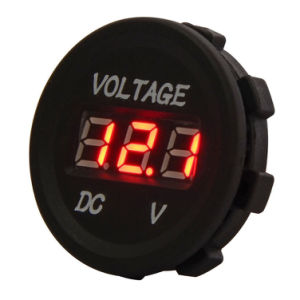 DC 12V LED Digital Display Voltmeter Waterproof for Boat Marine Vehicle pictures & photos