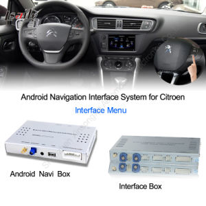 china car android navigation interface box for citroen c4 c5 upgrade hd video googl map. Black Bedroom Furniture Sets. Home Design Ideas