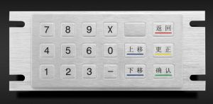18 Keys IP65 Waterproof Metal Keypad (KMY3502C-18) pictures & photos