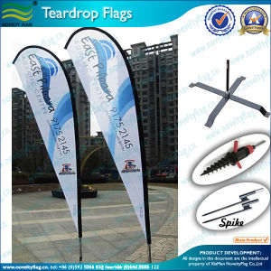 Teardrop Flag Pole and Teardrop Banner (M-NF04F06006) pictures & photos
