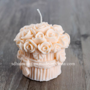 Roses Decorative Silicone Candle Mold for Wedding or Valentine′s Day Lz0023