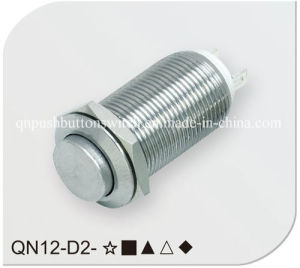 12mm Elevated Head Sliver Latching Push Button Switch pictures & photos