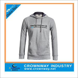 Wholesale Melange Grey Pullover Hoody Sweatshirt with Custom Embroidery pictures & photos