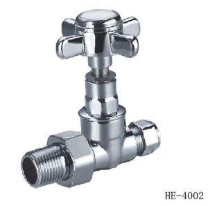 (HE4002--HE4004) Radiator Valve with Zinc, Aluminum or Plastic Handle for Water