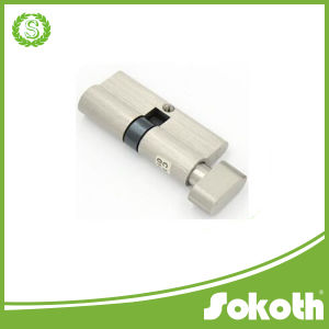 Euro Profile Single Open Brass Cylinder Lock with Knob, Best Cylinder Lock pictures & photos