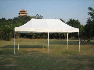 Upal Cheap Folding Steel Gazebo Tent with PVC Fabric Roof pictures & photos