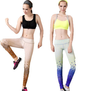 Yoga Compression Trousers Gym Fitness Sports Pants for Women (AK132) pictures & photos