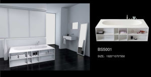 Popular and Large Capacity Free Standing Neolith Bathtub (BS-5001) pictures & photos