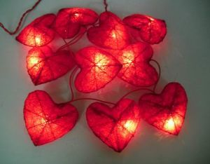Outdoor Heart Shaped LED Solar String Lights pictures & photos