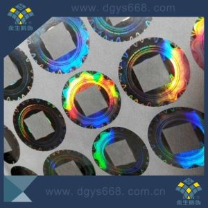 Customized Design Security Hologram Sticker with Transparent Window pictures & photos