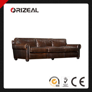 Orizeal Luxurious Lancaster Genuine Leather Sofa (OZ-LS-2031) pictures & photos