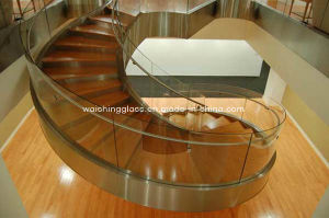 Clear Safety 10.76mm Laminated Glass Staircase with Igcc / ISO9001 / CCC pictures & photos