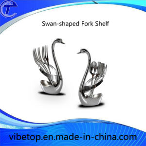 Swan-Shaped Zinc Alloy Knife Forks Shelf pictures & photos