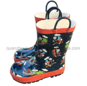 OEM Rubber Children Kids Rain Boot with Handle pictures & photos