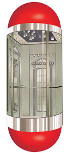 Passenger Lift/Home Elevator with Good Quality Glass Sightseeing pictures & photos