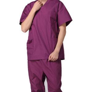 China Manufacture V Neck Nurse Uniforms Medical Scrubs Design pictures & photos