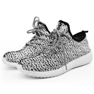 Casual Running Shoe with Breathable Flyknit Upper and Comfortable MD Sole (zapatos) pictures & photos