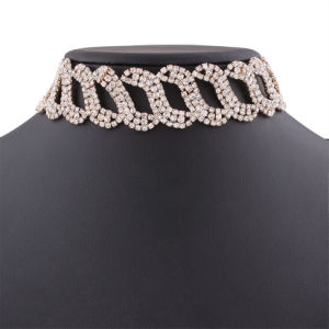 Fashion Full Rhinestone Diamond Crystal Choker Necklace Jewelry pictures & photos