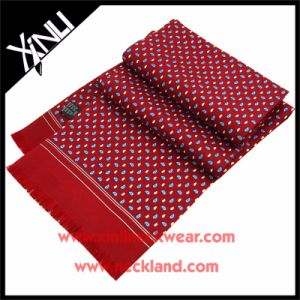 Men Fashion 100% Silk Printed Scarf pictures & photos