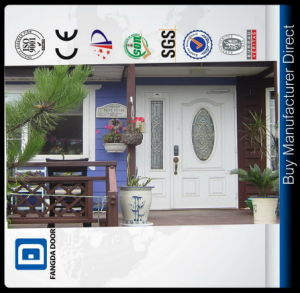 Premium Big Oval Bathroom Tempered Frosted Glass Galvanized Steel Exterior Interior Door Slab pictures & photos