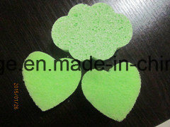 Cloud Shape Cellulose Sponge with Green Color pictures & photos