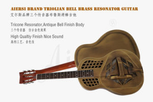 Delta Bell Brass Body Tricone Blues Resonator Guitar for Sale pictures & photos