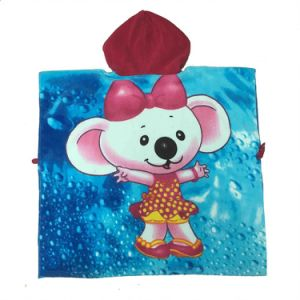 100% Cotton Printed Velour Surf Poncho Kids Animal Hooded Towel pictures & photos