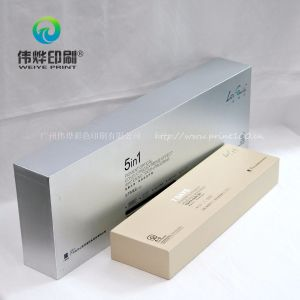 Silvery Rigid Printing Cardboard Gift Box Use for Cosmetic Packaging pictures & photos