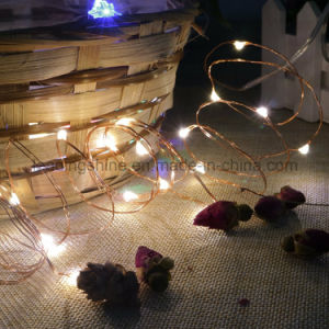 20 Micro LEDs String Light Battery Powered Ultra Thin String Copper Wire Decor Rope Flexible Light pictures & photos