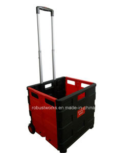 Plastic Portable Folding Shopping Cart (FC403K-2) pictures & photos