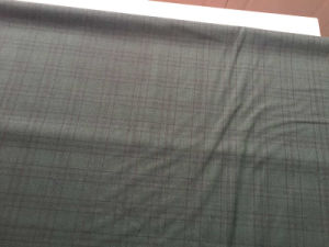 Black Frame Green Woven Fabric