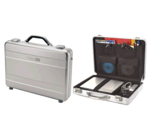 Good Quality Pure Aluminum Attache Laptop Case with CD Holder pictures & photos