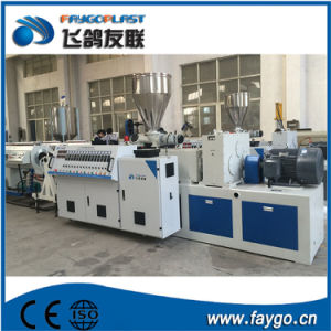 PVC Plastic Conical Double Screw Twin Screw Extruder pictures & photos