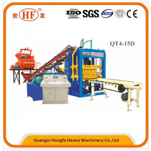 Automatic Soil Brick Machine Interlocking Block Making Machine Qt4-15D pictures & photos